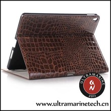 Ultramarine For iPad 2 3 4 Crocodile Leather Folding Stand Auto-Wake/Off Wallet Case Hot Selling