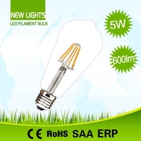 Light source indoor new product best price PF>.5 st64 6w led filament bulbs lights