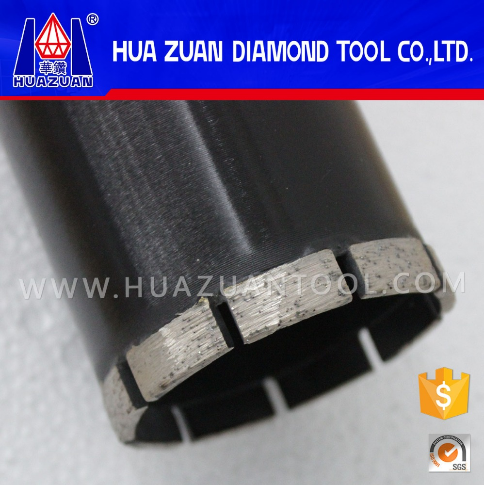 Aiguille diamond core drill bit for drilling refractory brick