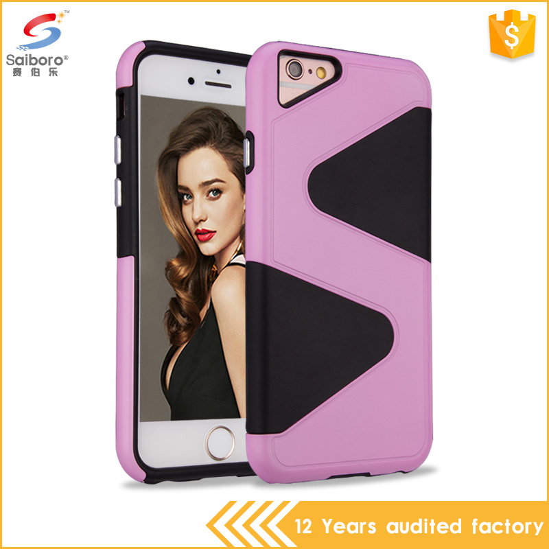 New arrival Shockproof Mix color Soft TPU S line mobile back cover for iPhone 6/6S