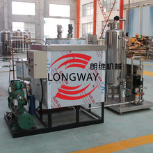 2000L/H complete carbonated drinks processing machine with water chiller and carbonator