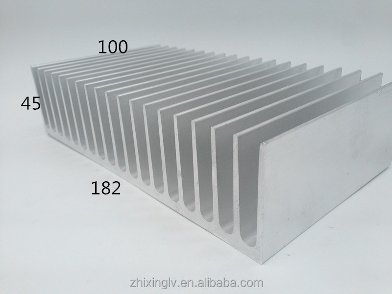 Extrusion <strong>Aluminum</strong> Heat Sink Manufacturer/Heat sink Aluminium/Extrusion Heatsink 182*45-100 custom anodizing <strong>aluminum</strong> heatsink