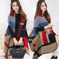 wholesale Korean style fashion thickening winter warm lady cloak scarfs shawls