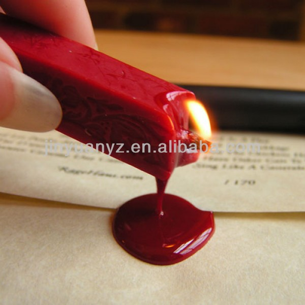 jinyuan office wax stamp with copper head wooden handle for bottle seal