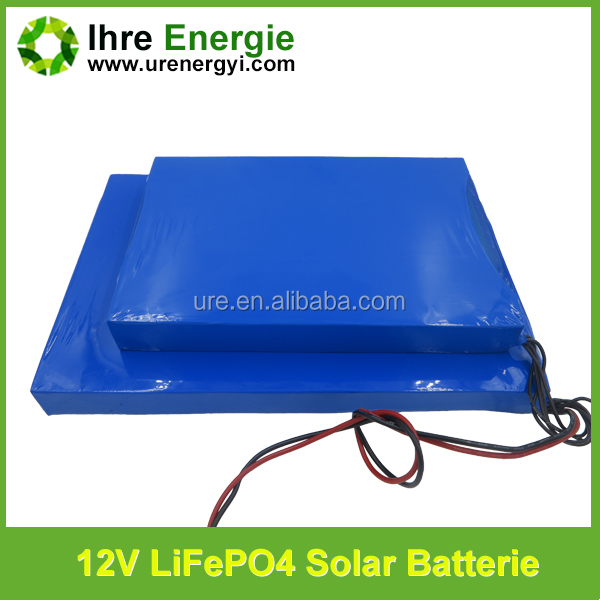 solar outdoor wall lights lifepo4 battery pack 2000 times long cycle life 12v 32ah battery
