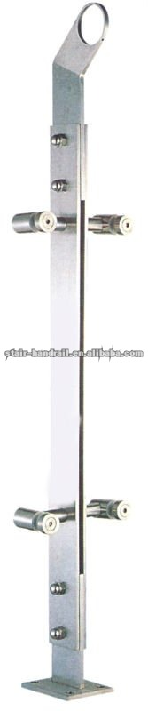 stair stainless steel glass railing posts