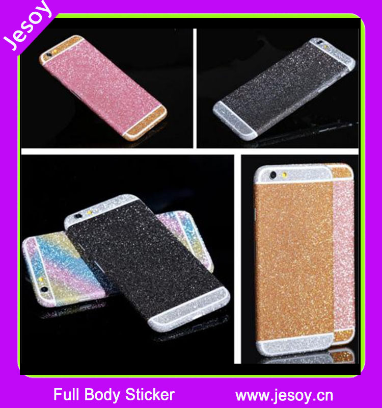 JESOY DIY Bling Vinyl phone sticker for Samsung for <strong>Ipad</strong> for Iphone full body glitter