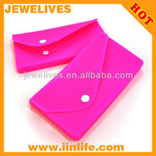 Promotional gift customized lady silicone purse bag