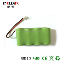 Cyclenpo 4.8v 600mah ni-mh aaa battery pack 1.2v 4s1p nimh rechargeable battery pack 4.8v
