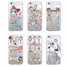 TOMOCOMO Fashion image Clear Mobile phone Back Cover Cute Fashion Girl design Shockproof phone case