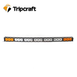 LED WORK LIGHT CAR 210W ALUMINUM ALLOY HOUSING LED LIGHT BAR WITH AMBER AND WHITE COLOR