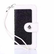 New Products 2017 Camellia PU Leaher Wallet Phone Case For Iphone 7