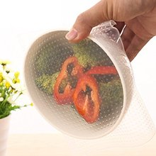 BPA free reusable food grade wrap stretch film silicone cling film for bowl
