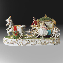 Ceramic crafts eupopean classical royal porcelain carriage figurines