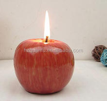 2015 hot selling christmas Eve apple candle