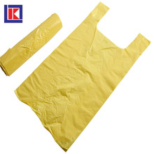 custom plastic hdpe / ldpe flat seal folded trash bag in roll