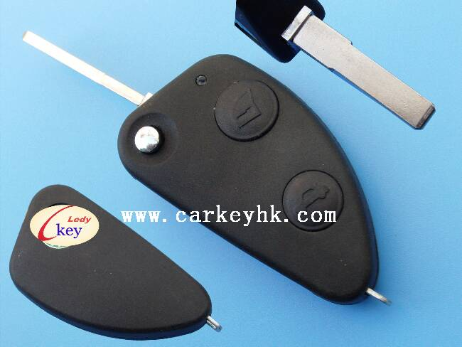 Alfa romeo 2 button flip remote key cover shell