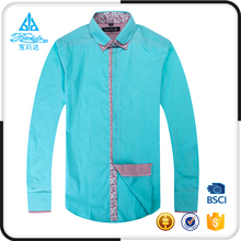 Various styles Contrast Collar and Cuff solid color men branded formal shirts