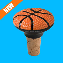 2.25-Inch basketball wine bottle stopper for sale