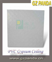 PVC Laminated Gypsum Ceiling Board With Aluminum Foil on Back Side