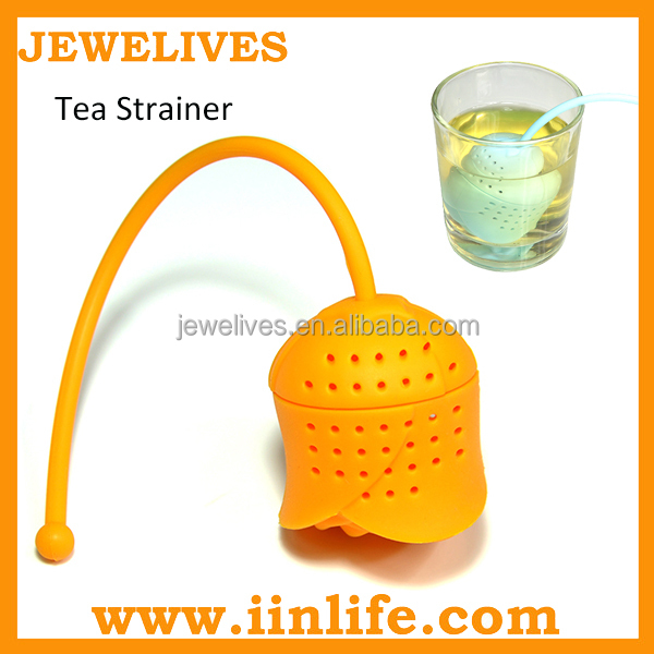 Novelty fashion design silicone rubber tea strainer
