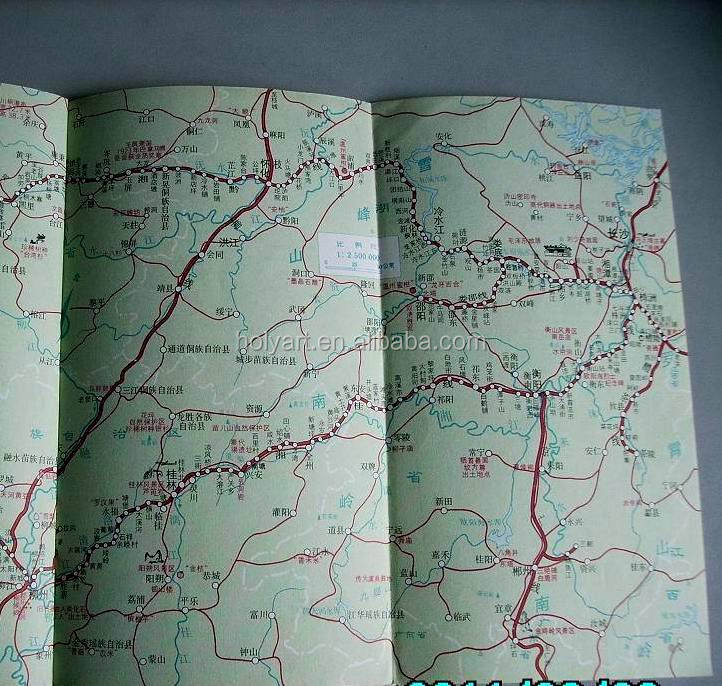 hot sale high quality folded map printing