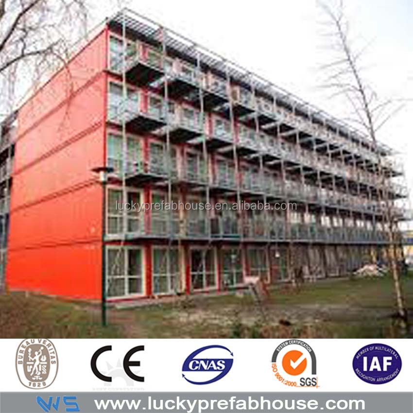 china prefab steel structure hotel building