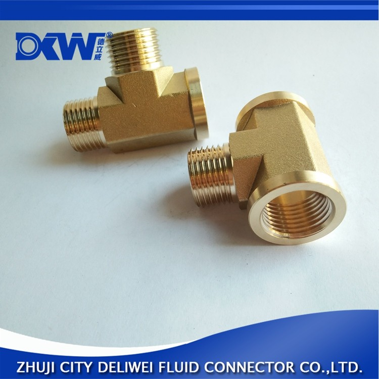 DN15 brass pipe fittings equal tee with low price brass pipe fitting copper material wall corner tee barred tee