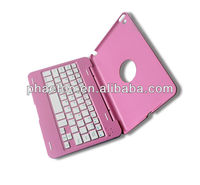 2013 New Tablet Wireless Bluetooth Keyboard with Stand Hard Case Cover for iPad Mini, arabic turkish keyboard