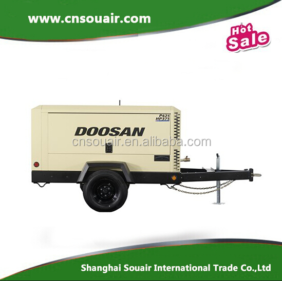 425cfm 100psi Ingersoll-rand Doosan Portable diesel screw air compressor Model P425/HP375WCU HP450/VHP400WCU P600/XP535WCU