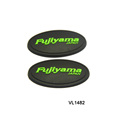 PVC material rubber patch soft injection rubber label for outdoor