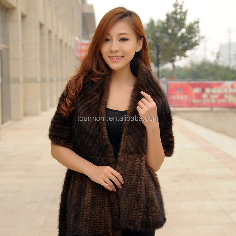 Rex Rabbit Fur Scarves Winter Warm Real Rabbit Fur Shawl