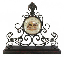 french style iron mantle clock retro antique desk clocks
