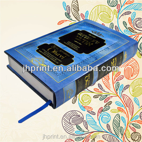 China professional gold stamped just jacket with ribbon hardcover book printing