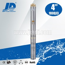Three phase electric pumps deep well submersible pump/water pump 220v high pressure 4'' 100QJ3 series