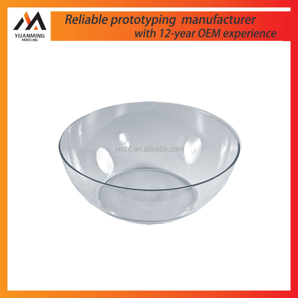 cheap hot sell manufacturer plastic injection kid use PP lucency bowl prototype