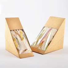 hot selling disposable sandwich triangle box/triangle sandwich box for packaging