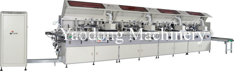 Fully auto continuous 4 color screen printing machine YD-SPA102/4C