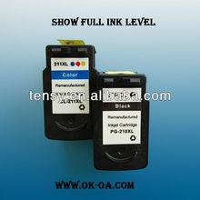 Refilled ink cartridge for Canon CL-211XL factory price