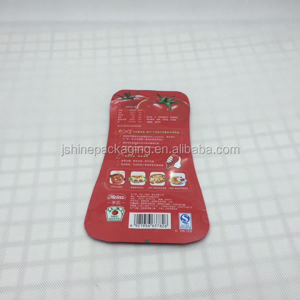 Special shape small food packaging bag for tomato sauce