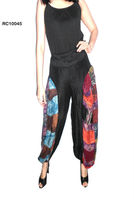 Cotton boho harem Pants style, baggy balloon casual Pantalon Harem shirred waist Ropa