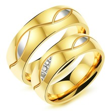 Marlary Beautiful Stainless Steel Gold Rings Designs Wedding Saudi Gold Jewelry Ring For Men