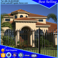 Cheap prefab resifential model wrought iron fence panels design