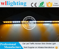 "28 LED 31"" Flash Emergency Warning Grill Traffic Advisor Strobe Light Bar white yellow (amber)"