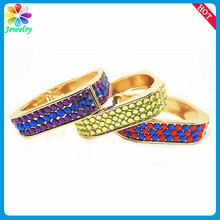 Lots Dots Cobra Snake 18 Carat Gold GP Enamel Square Sex Fancy Bangles