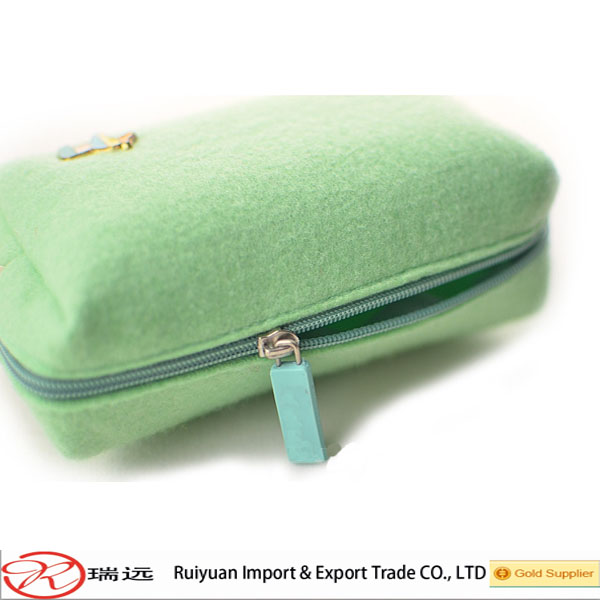 Alibaba express fashion felt wallet purse of different colors