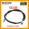 Motorcycle Tachometer Cable for Honda CG125 - Black