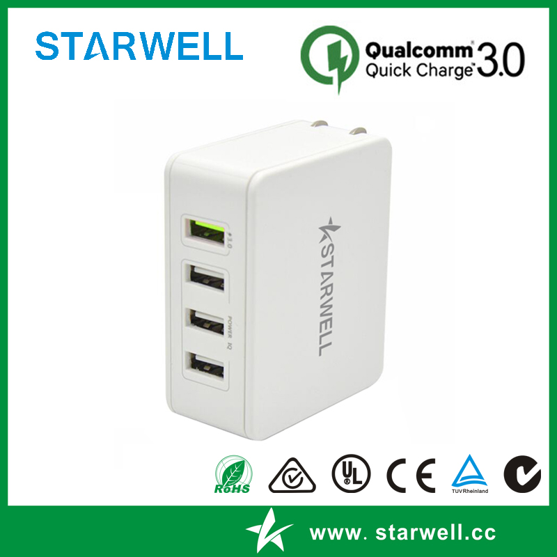 4 usb port wall charger with 35w power adapter
