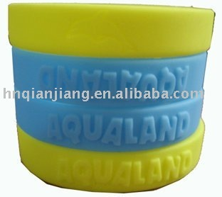 Embossed Silicon Rubber Bracelets & Wristbands