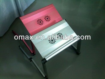 Aluminium alloy laptop stand with cooling fan new arrival fashionable design